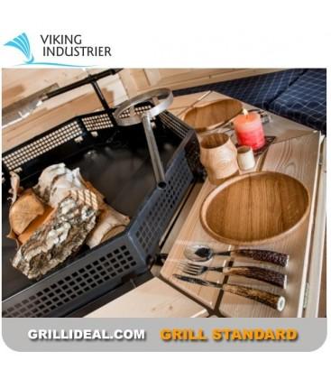 Grill Finlandais Standard Viking 6 côtés