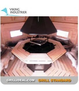 Grill Finlandais Standard Viking 8 côtés
