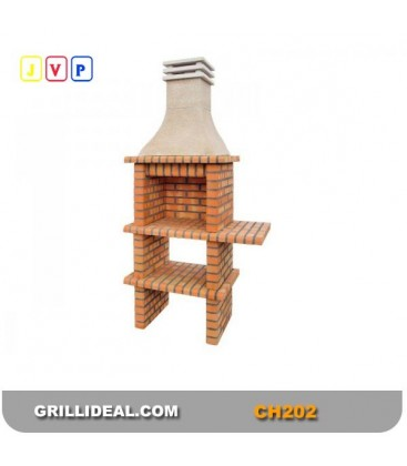 Barbecue CH202 Briques - rouge