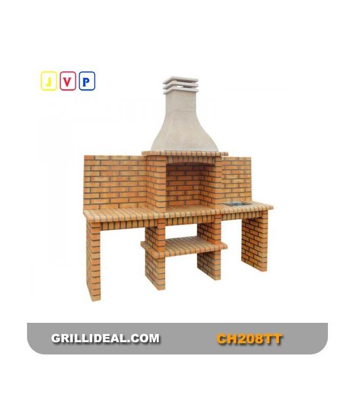 Barbecue De Jardin En Briques Ch218 T-T Briques - Grill Idéal